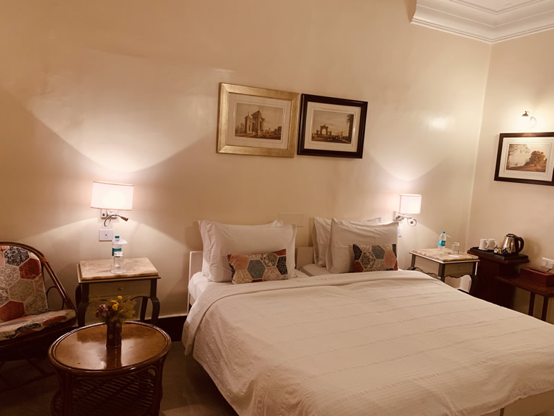 The Double/twin Room at the Elgin Fairlawn, Kolkata