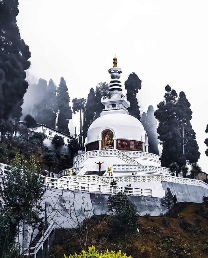 6 places to visit in Darjeeling, Peace Pagoda near The Elgin Hotels & Resorts